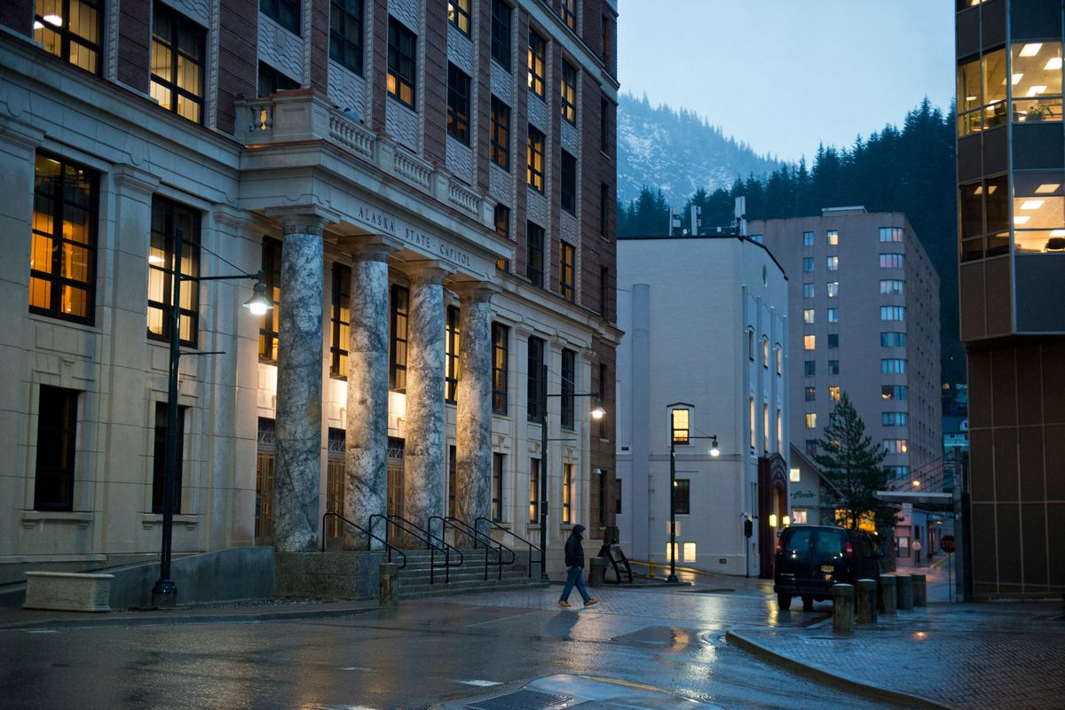 The Alaska Capitol in Juneau, photographed on January 16, 2017. (Marc Lester / Alaska Dispatch News)