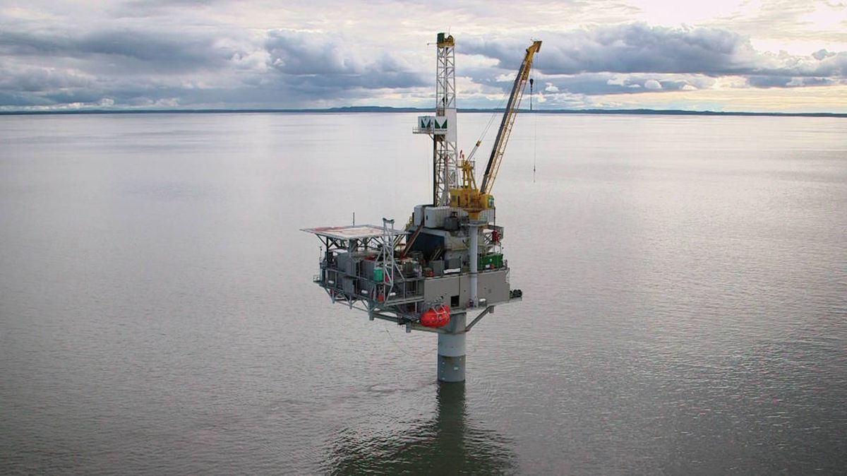 An undated photo of a Furie drilling rig in Cook Inlet. The bankruptcy sale of Furie Operating Alaska has closed with new owner John Hendrix taking over. Hendrix, a former oil and gas executive and adviser to former Gov. Bill Walker, said the company will be focusing on its core gas business and abandoning its previous efforts to expand into oil production. (Photo courtesy Furie Operating Alaska)