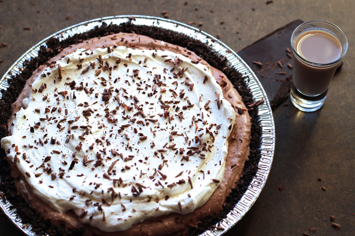 Chocolate Irish cream pie (Maya Wilson / Alaska from Scratch)